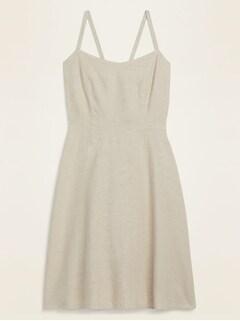 Oldnavy Fit & Flare Linen-Blend Cami Mini Dress for Women