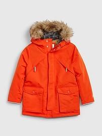갭 GAP Kids ColdControl Ultra Max Parka Jacket,true black