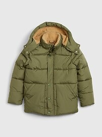 갭 GAP Kids BetterMade ColdControl Max Puffer Jacket,desert cactus