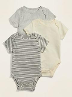 Oldnavy Unisex Bodysuit 3-Pack for Baby