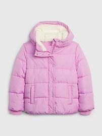 갭 GAP Kids BetterMade ColdControl Max Puffer Jacket,heather grey