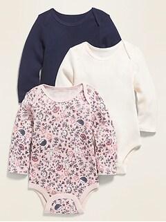 Oldnavy Unisex Long-Sleeve Thermal Bodysuit 3-Pack for Baby