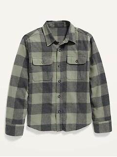 Oldnavy Built-In Flex Plaid Flannel Shirt for Boys