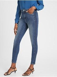bananarepublic High-Rise Side Stripe Medium Wash Skinny Jean