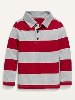 Oldnavy Striped Long-Sleeve Polo for Toddler Boys