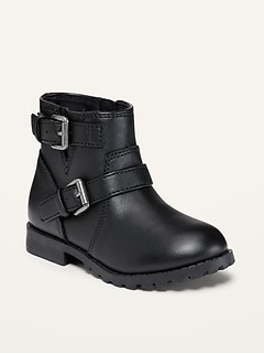 Oldnavy Faux-Leather Moto Boots for Toddler Girls