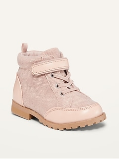 Oldnavy Pink Canvas Sneakers for Toddler Girls