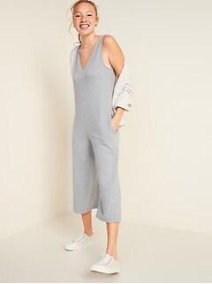 Oldnavy Sleeveless V-Neck Wide-Leg Jumpsuit for Women