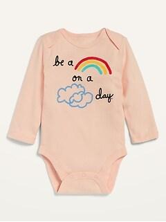 Oldnavy Unisex Long-Sleeve Graphic Bodysuit for Baby