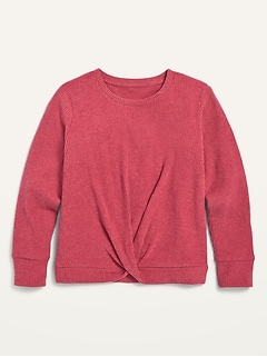 Oldnavy Cozy Twist-Front Rib-Knit Top for Girls