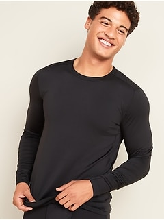 Oldnavy Go-Dry Cool Odor-Control Long-Sleeve Base Layer Tee for Men