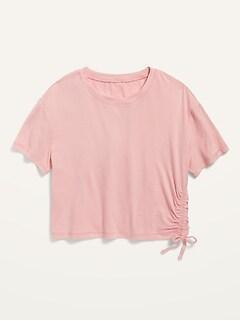 Oldnavy Luxe Short-Sleeve Side-Tie Top for Girls