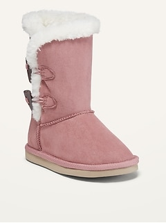 Oldnavy Faux-Fur-Lined Boots for Toddler Girls