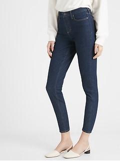 bananarepublic High-Rise Rinse Straight Jean