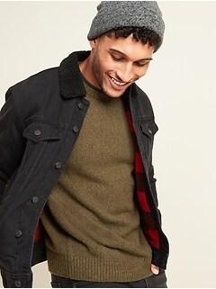 Oldnavy Sherpa-Lined Black Jean Jacket for Men