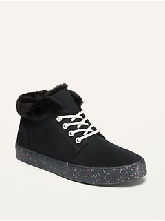 Oldnavy Glitter-Sole Canvas Mid-Top Sneakers for Girls