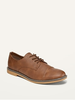 Oldnavy Faux-Leather Derby Buck Shoes for Men