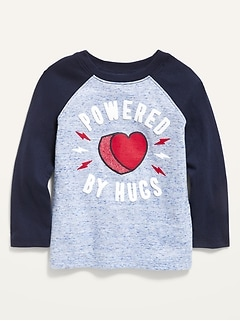 Oldnavy Valentine-Graphic Slub-Knit Raglan Tee for Toddler Boys