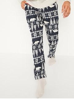 Oldnavy Printed Flannel Pajama Pants for Men