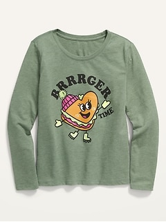 Oldnavy Long-Sleeve Graphic Tee for Girls Hot Deal