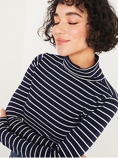 Oldnavy Slim-Fit Long-Sleeve Turtleneck Tee for Women
