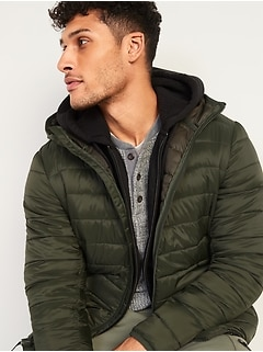 Oldnavy Water-Resistant Hooded Narrow-Channel Puffer Jacket for Men