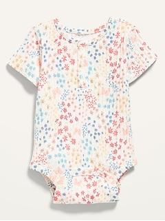 Oldnavy Unisex Short-Sleeve Rib-Knit Henley Bodysuit for Baby