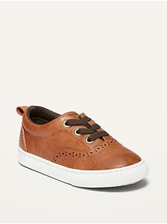 Oldnavy Unisex Faux-Leather Oxford Sneakers for Toddler