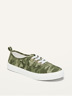 Oldnavy Camo-Print Lace-Up Twill Sneakers for Girls