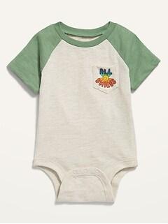 Oldnavy Unisex Graphic Raglan-Sleeve Bodysuit for Baby Hot Deal
