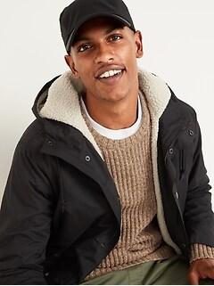 Oldnavy Water-Resistant Sherpa-Lined Hooded Jacket for Men