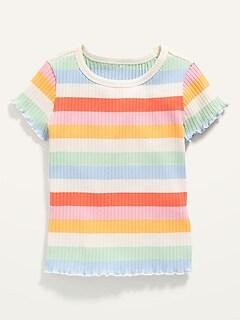 Oldnavy Short-Sleeve Lettuce-Edged Tee for Toddler Girls