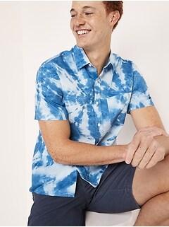Oldnavy Built-In Flex Printed Everyday Short-Sleeve Shirt for Men