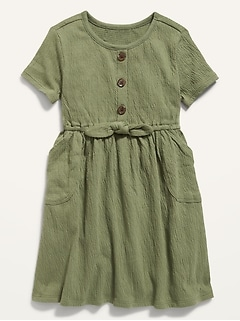Oldnavy Fit & Flare Puckered-Jersey Dress for Toddler Girls