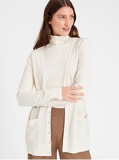 Bananarepublic Merino Long Cardigan Sweater in Responsible Wool