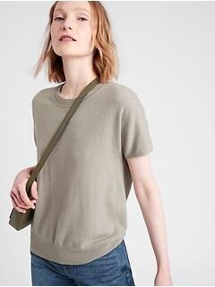 Bananarepublic Cashmere Short-Sleeve Sweater