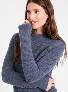 Bananarepublic Aire Waffle-Knit Sweater