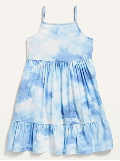 Oldnavy Printed Tiered Cami Fit & Flare Dress for Toddler Girls