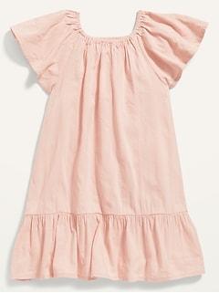 Oldnavy Flutter-Sleeve Tiered Swing Dress for Toddler Girls