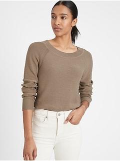 Bananarepublic Organic Cotton Scoop-Neck Sweater