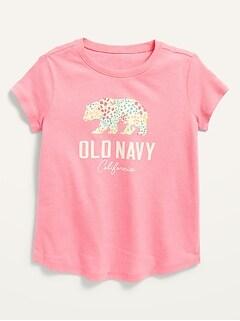 Oldnavy Short-Sleeve Logo-Graphic Tee for Toddler Girls