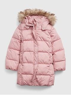 갭 걸즈 파카 GAP Kids ColdControl Ultra Max Puffer Parka,antique pink