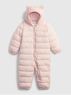 갭 여아용 푸퍼 우주복 GAP Baby ColdControl Puffer One-Piece,misty rose pink