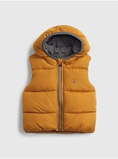 갭 여아용 푸퍼 조끼 GAP Baby ColdControl Max Puffer Vest,tobacco leaf orange
