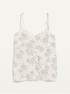 Oldnavy Floral-Print Button-Down Cami Top for Women