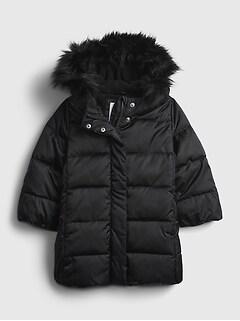 갭 여아용 푸퍼 자켓 GAP Toddler ColdControl Ultra Max Long Puffer Jacket,absolute black
